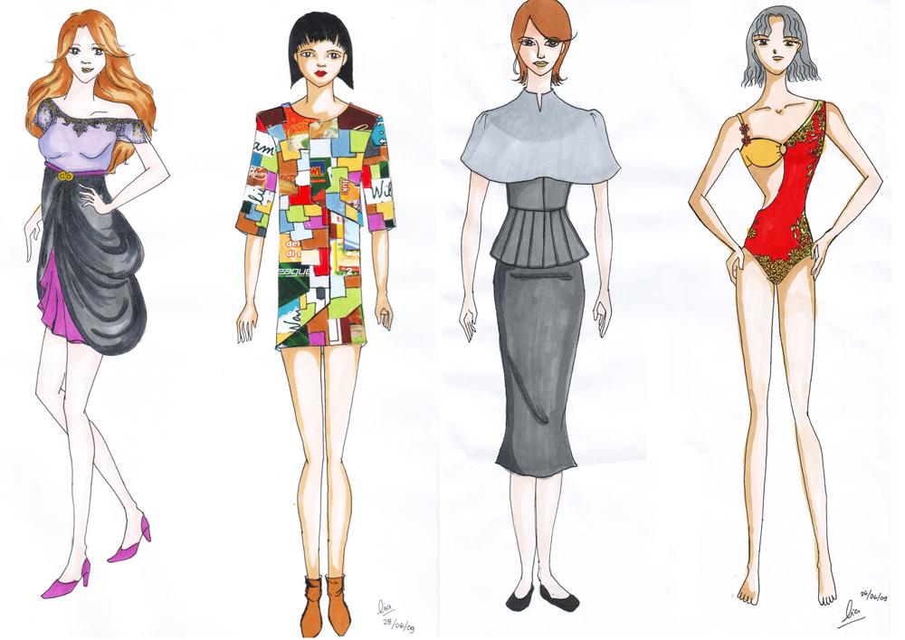 Design murid ~ Illustration | Kursus Tata Busana Wiwi